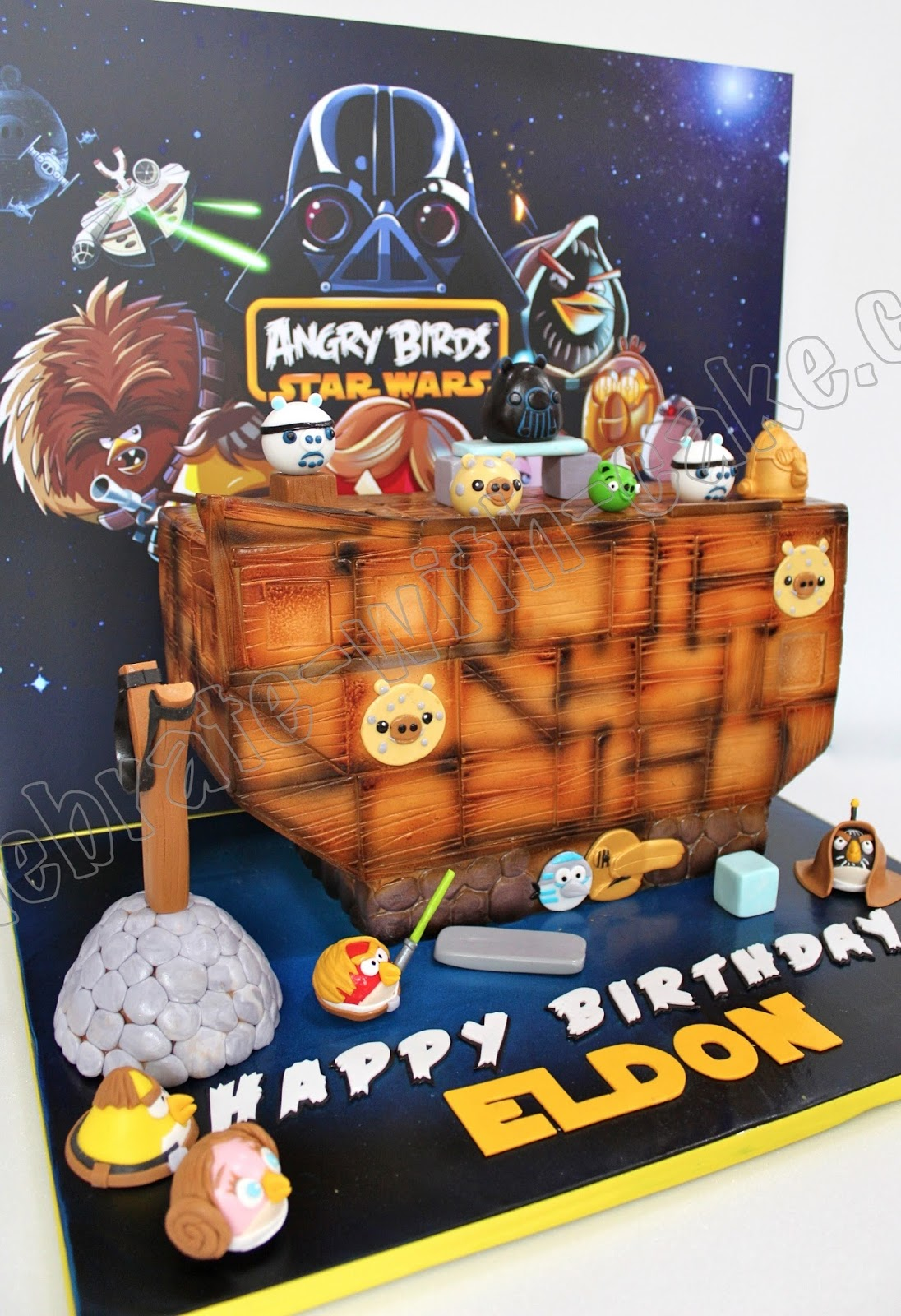 Angry Birds Star Wars Edition Cake