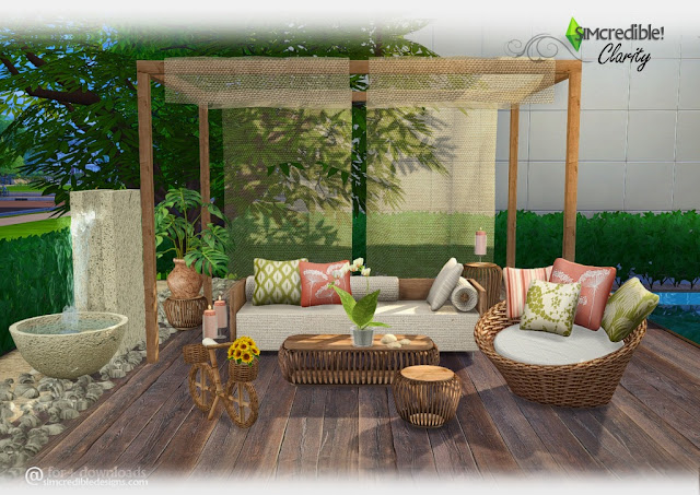Sofa Set Garden Furniture Sims 4 Cc's - The Best: Clarity Outdoor Set By Simcredible!