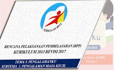 RPP Kelas 1 K13 Revisi 2017 lengkap