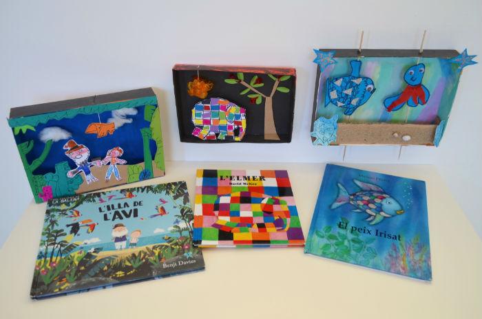 Taller de reciclaje con cajas: cuadros inpirados en libros y cuentos
