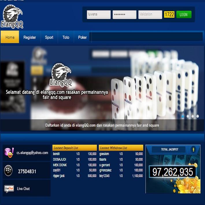 Info Poker Online Uang Asli Indonesia Terpercaya Elangqq Com