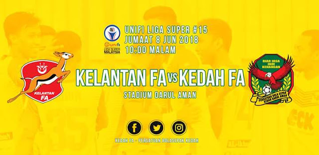 Live Streaming Kelantan vs Kedah 8.6.2018 Liga Super