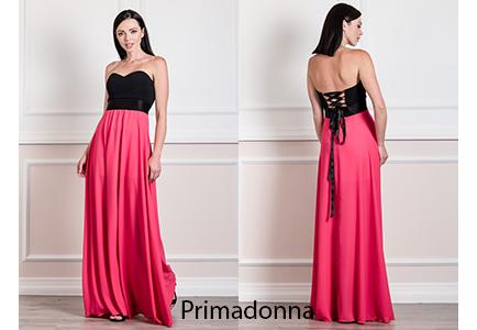 4186aee25776 Γυναικεία μόδα by Primadonna   Φόρεμα maxi strapless από μουσελίνα