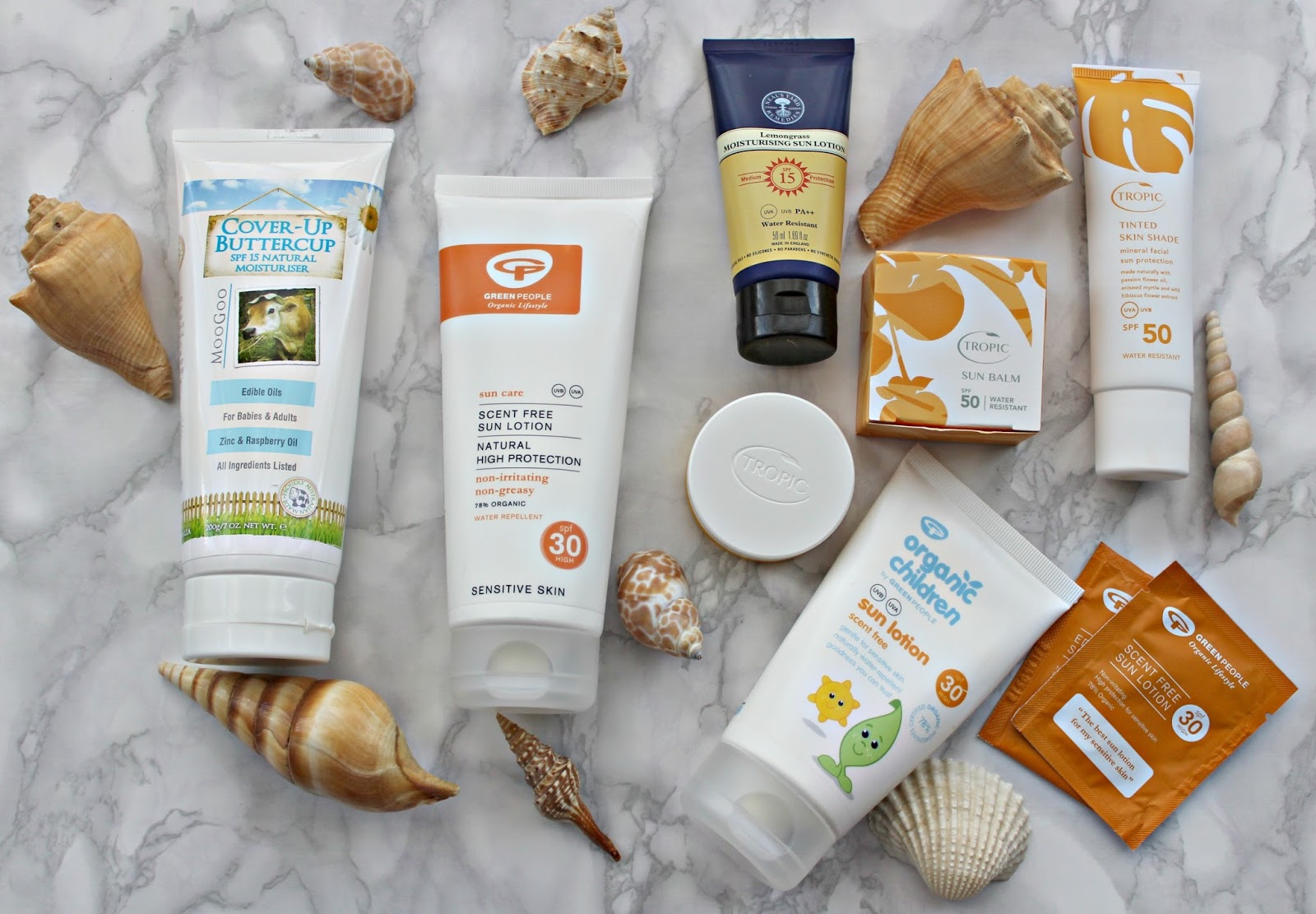 Natural and Organic suncreens tried and tested: Featuring Moogoo, Tropic Skincare, Neals Yard Remedies and Green People