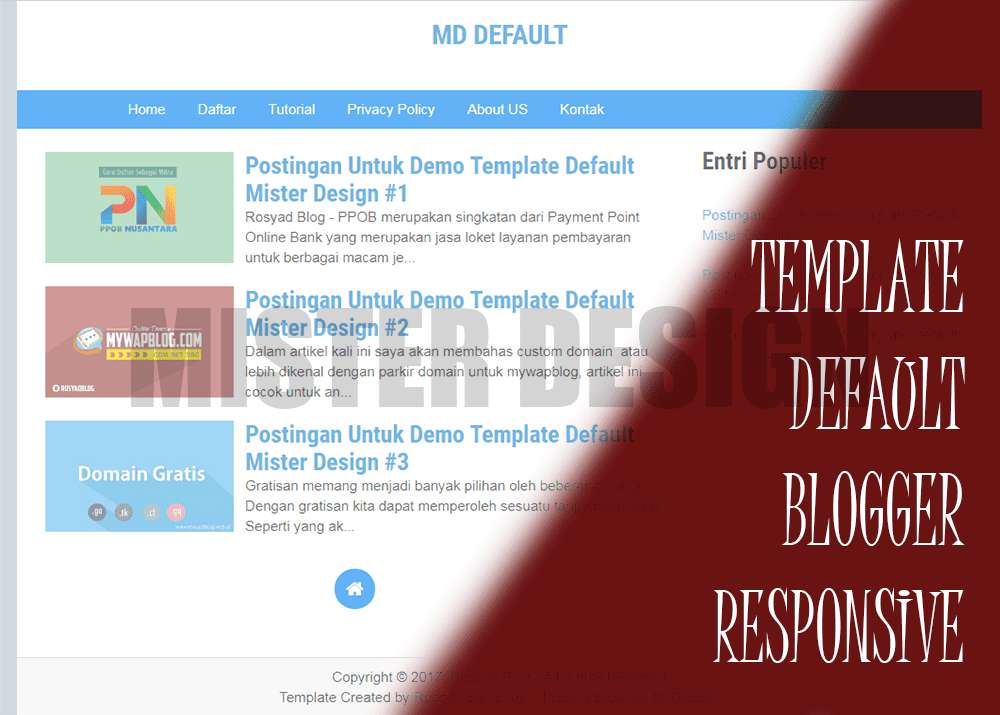 Template Blogger Default