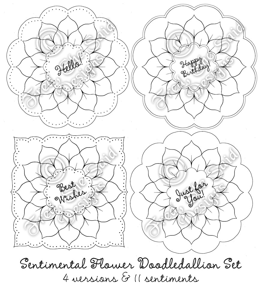 paper pricking templates - fred she said designs the store sentimental flower