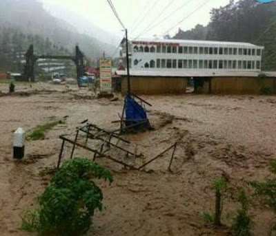 Banjir yang melanda Dataran Tinggi Dieng. Foto :Elshinta.