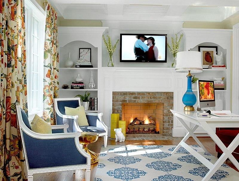 10 Desain Interior Cat Rumah Warna Biru