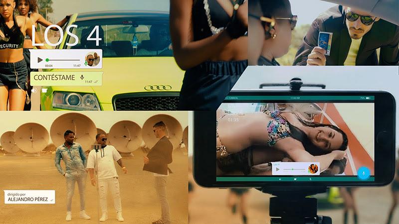 Los 4 - ¨Contéstame¨ - Videoclip - Dirección: Alejandro Pérez. Portal Del Vídeo Clip Cubano - 01
