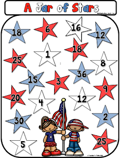 Free Multiplication Game: A Jar of Stars