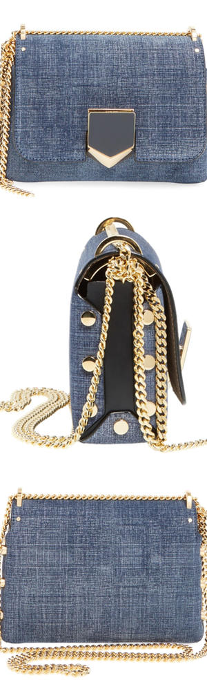 Jimmy Choo 'Petite Lockett' Calfskin Leather Shoulder Bag