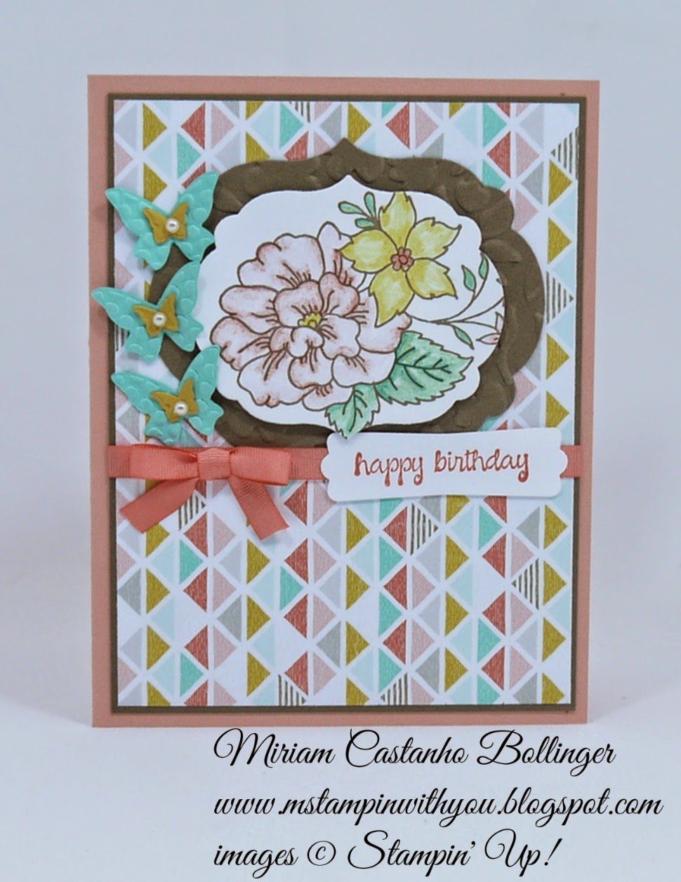 Miriam Castanho Bollinger, #mstampinwithyou, stampin up, demonstrator, pp233, birthday card, best year ever dsp, best year ever accessory pack, I like you stamp set, and many more stamp set, beautiful wings, big shot, labels collection, spring flowers TIEF, word window, su