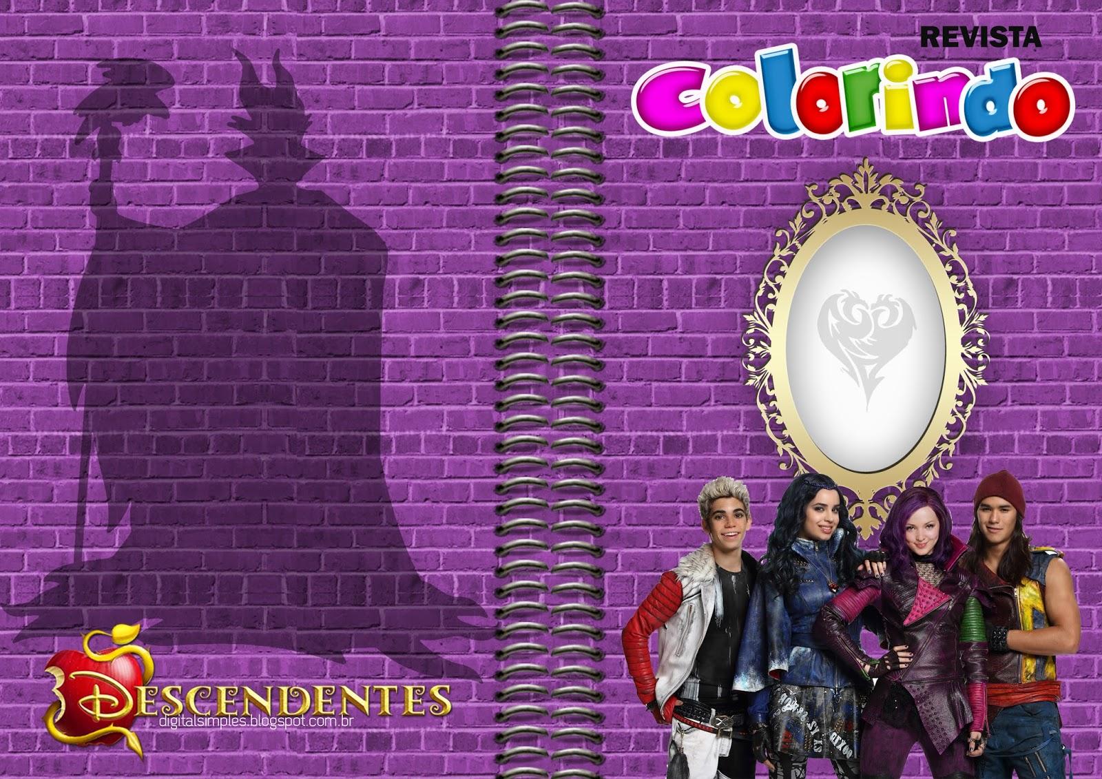 """Kit Festa """"Descendentes Disney"""" Para Imprimir Gratuito"""