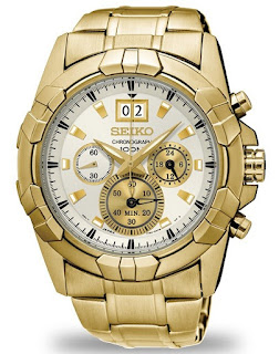 Seiko Lord SPC190P1 Chronograph Full Gold White