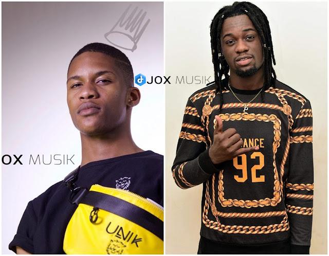 Esta foto contem o rosto de dois rappers, Uami Ndongadas e Paulelson