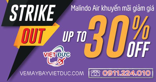 khuyến mãi giảm giá bay từ Việt Nam của Malindo Air