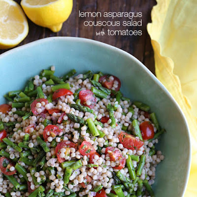 Pearl Couscous Salad with Lemon Asparagus and Tomato - 5 smart points