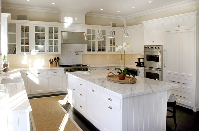 Casa de luna creations open shelving cabinets - Pictures of white kitchens ...
