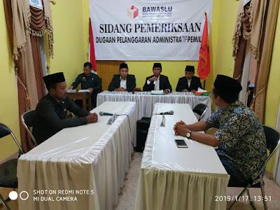 "Diduga Langgar Administrasi Pemilu, Dua Caleg PKS ""Disidang"" Bawaslu Lampung Timur"