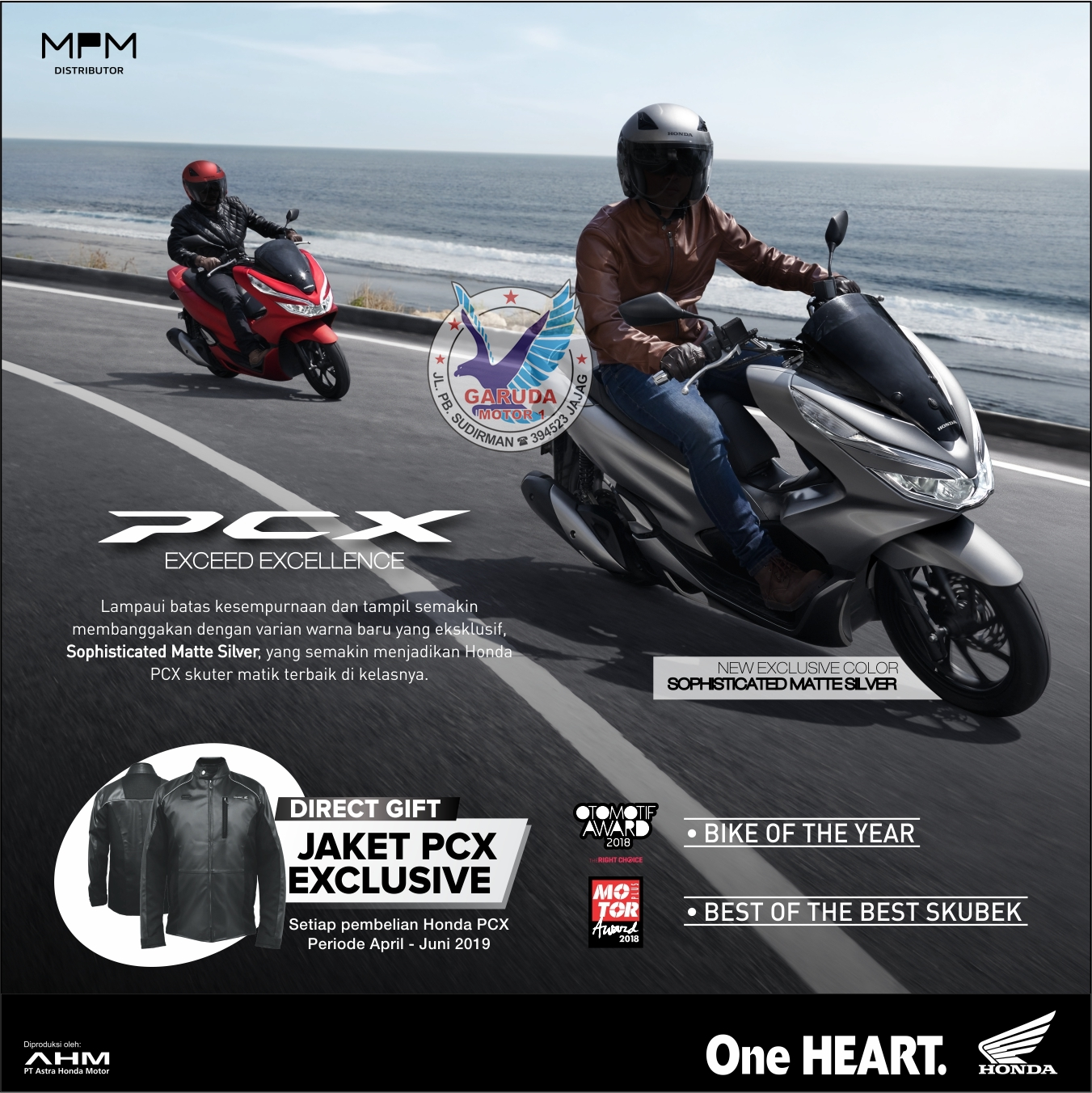 gratis jaket PCX150 exclusive