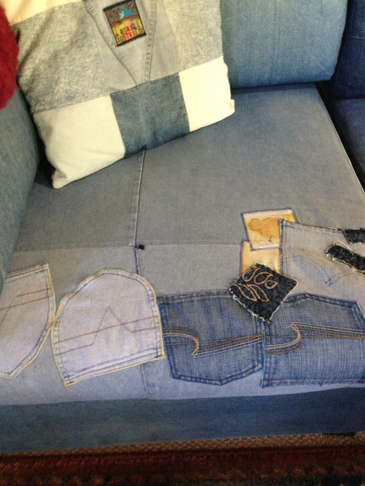 Reupholstered Sofa - Upcycled from Jeans