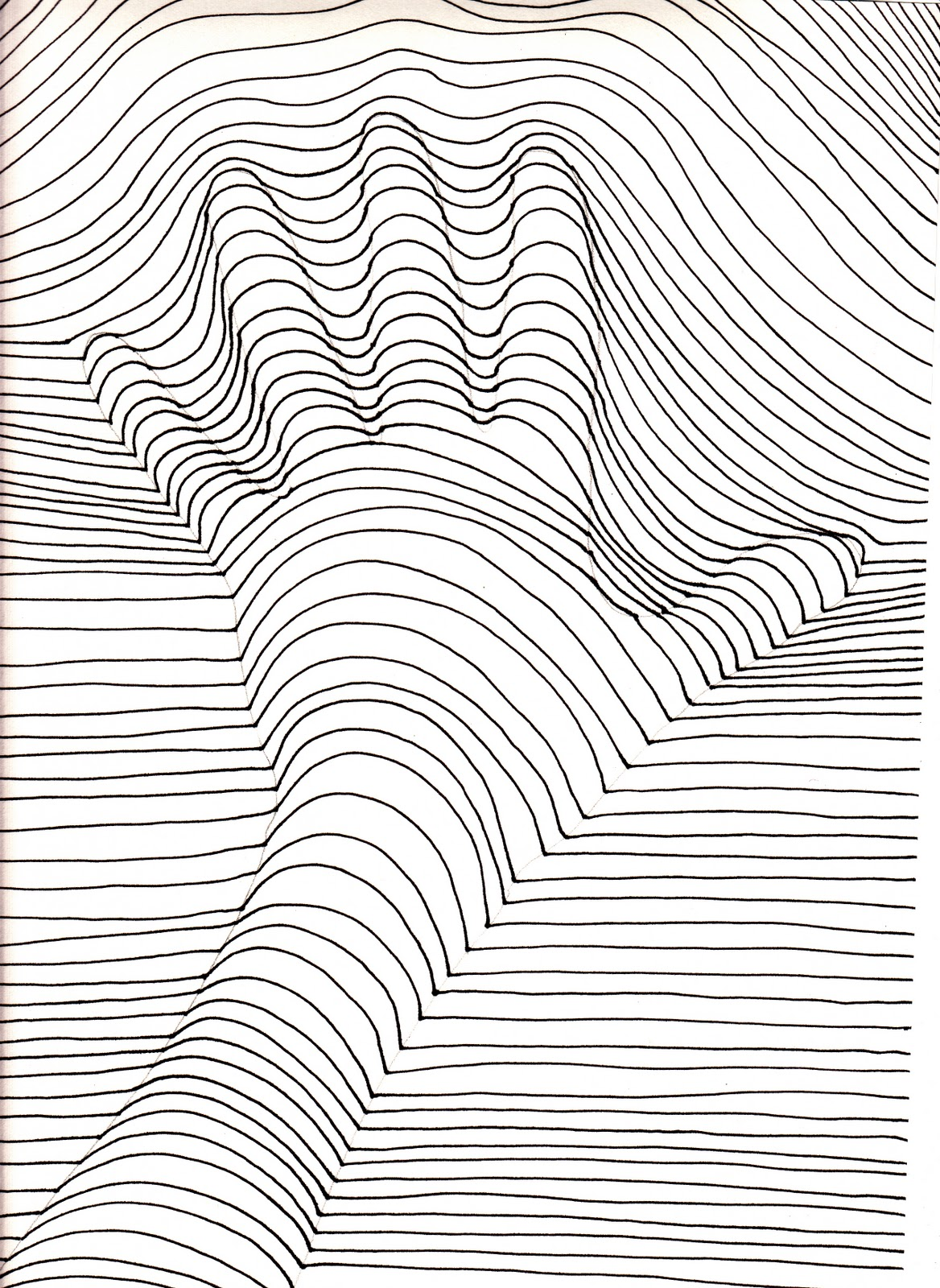 Simple Line Art Example : The creative spirit op art hands that pop