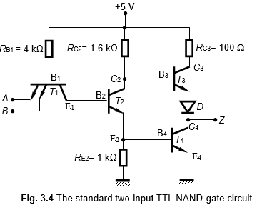 Working Principle of the Two-Input TTL NAND Gate