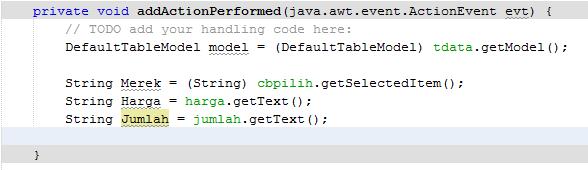 6 4 - Tutorial Mmebuat Aplikasi Penjualan HP Menggunakan Java