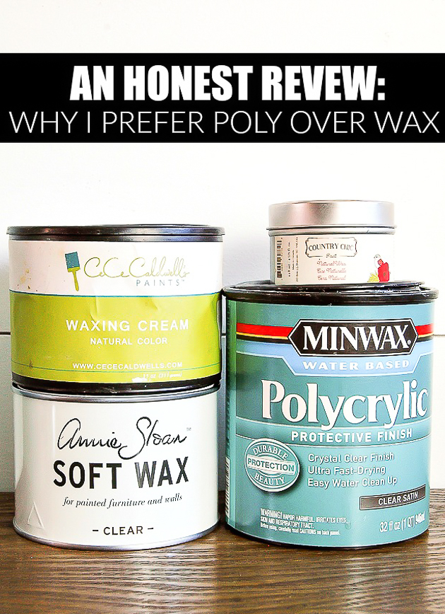 Why I Don't Like Using Wax to Seal Furniture | Little House of Four