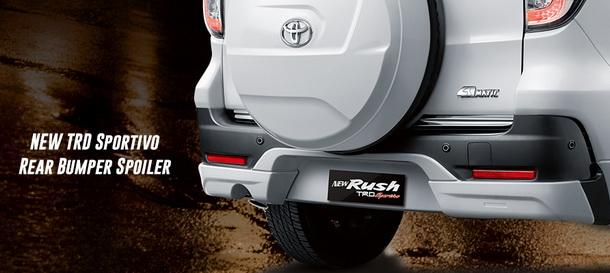 New TRD sportivo rear bumper spoiler