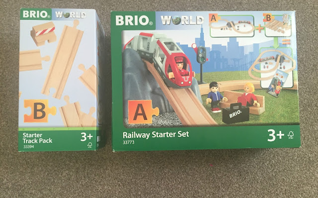 railway starter set and track set in box