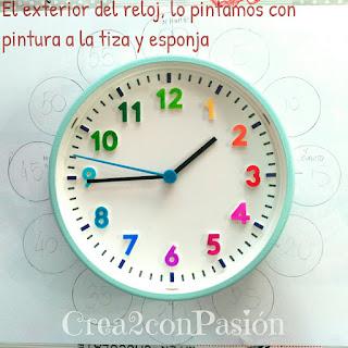 Base-reloj-ikea-decorado-con-pinturas-acrílicas-y-sharpie-reloj-primaveral-para-aprender-las-horas-Crea2conPasión-rotuladores-Sharpie-y-pinturas-acrilicas