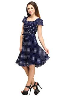 Colorfuel Women's Georgette Dress