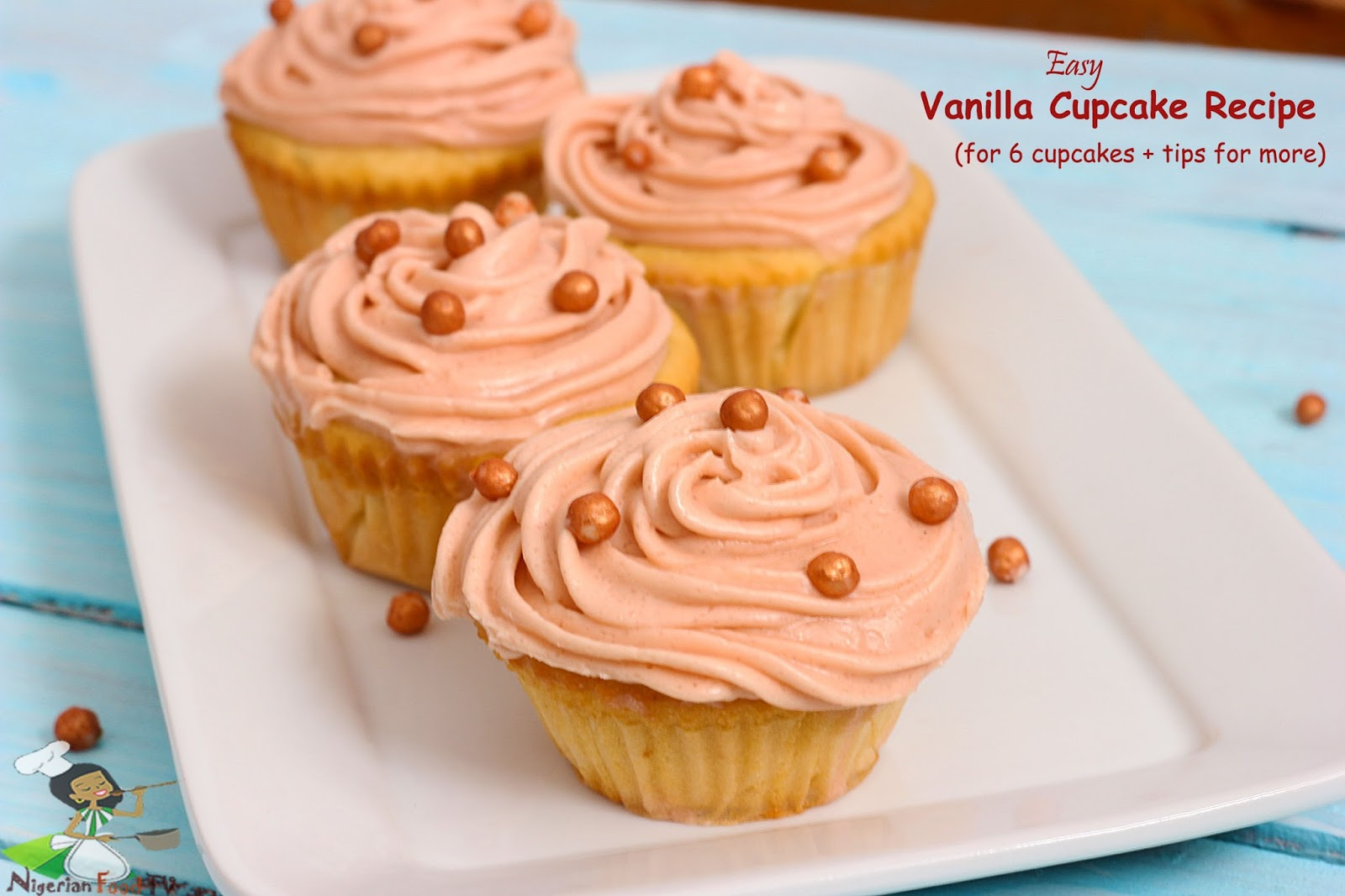 Vanilla Cupcake recipe for beginners : small batch Cupcake Recipe
