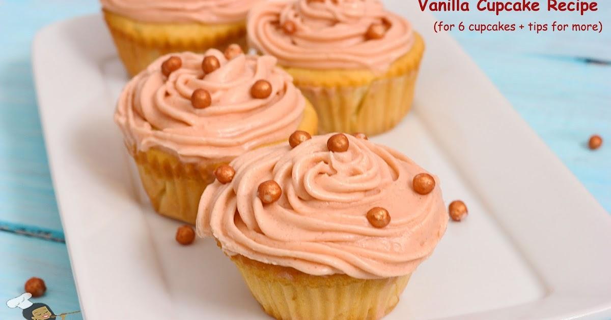 recipe for six vanilla cupcakes