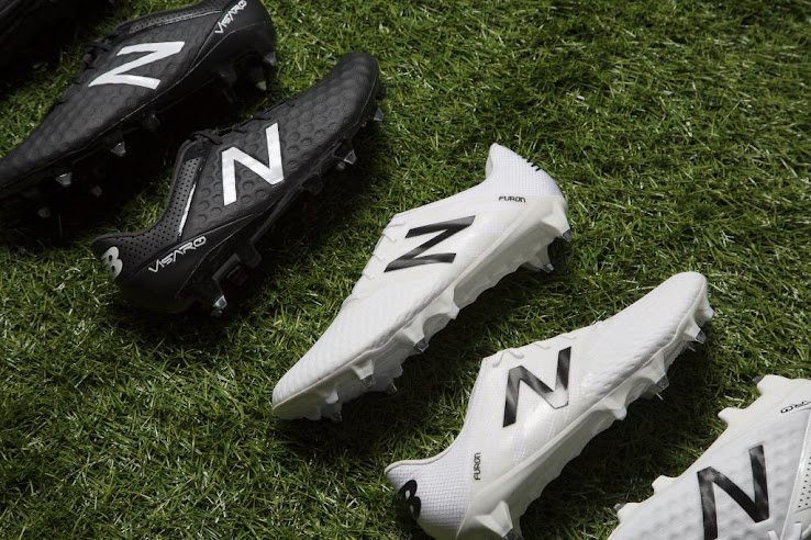 66aed2228 New Balance today released blackout and whiteout versions of the New Balance  Furon and New Balance Visaro Cleats to offer players the same boots first  worn ...