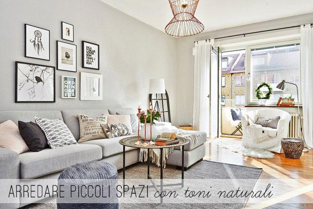 Arredare piccoli spazi con toni naturali home shabby for Foto di case arredate