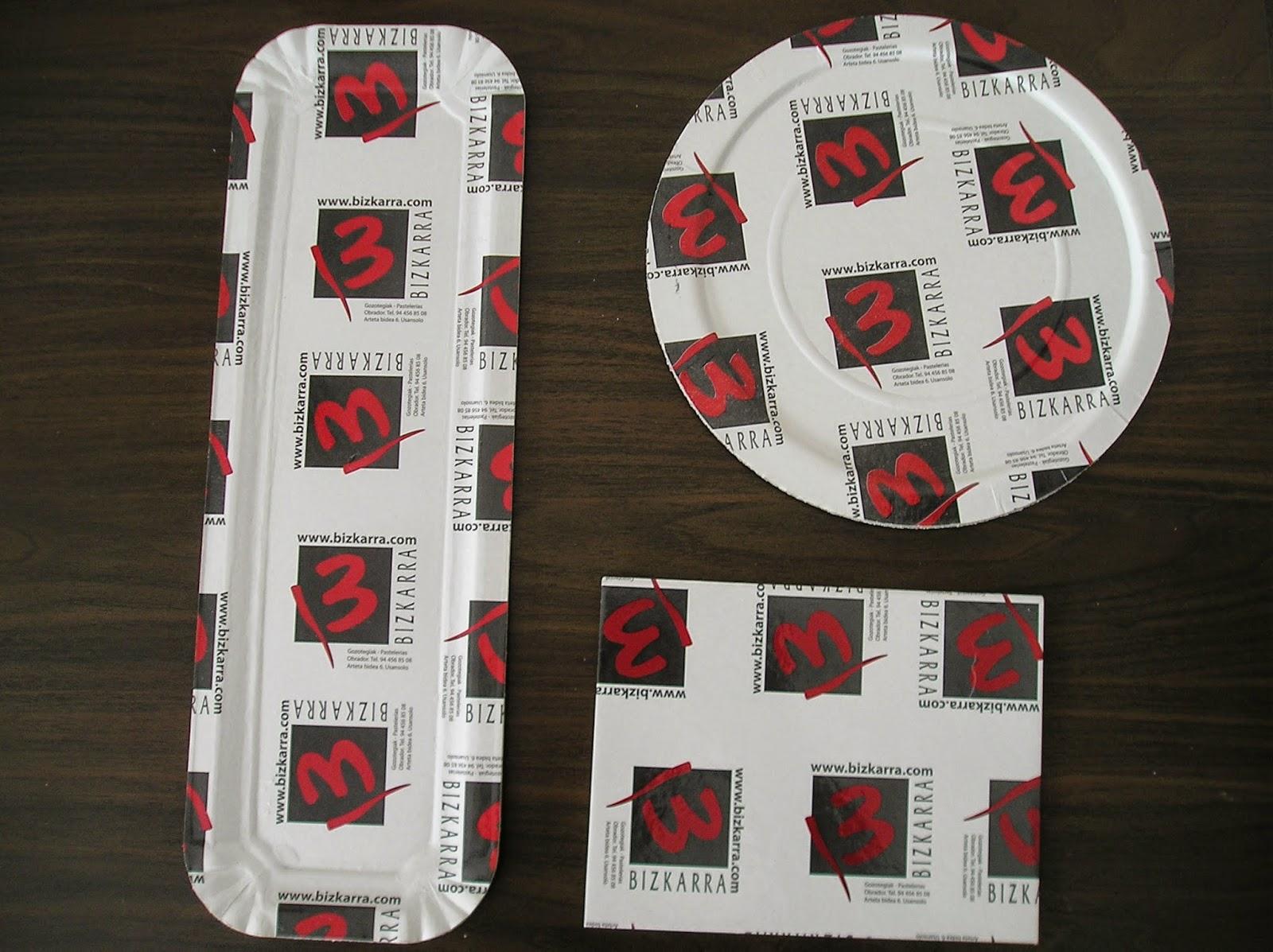 platos y bandejas de carton impresos