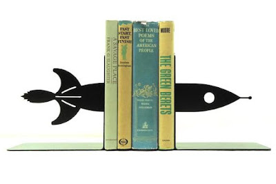 Rocket Ship Bookends