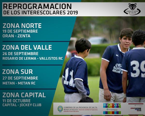 Intercolegial de Rugby de la Provincia de Salta 2019