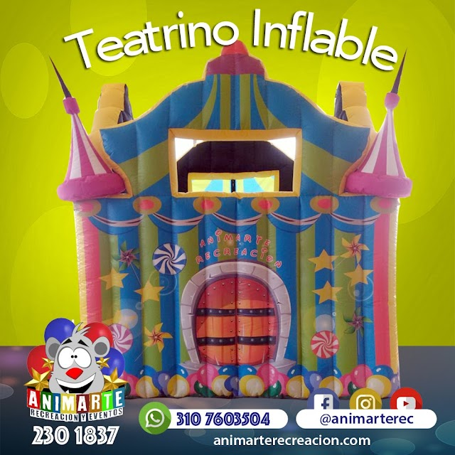Teatrino inflable en forma de Castillo