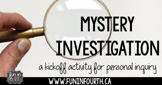A kickoff activity for personal inquiry