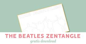 The Beatles zentangle