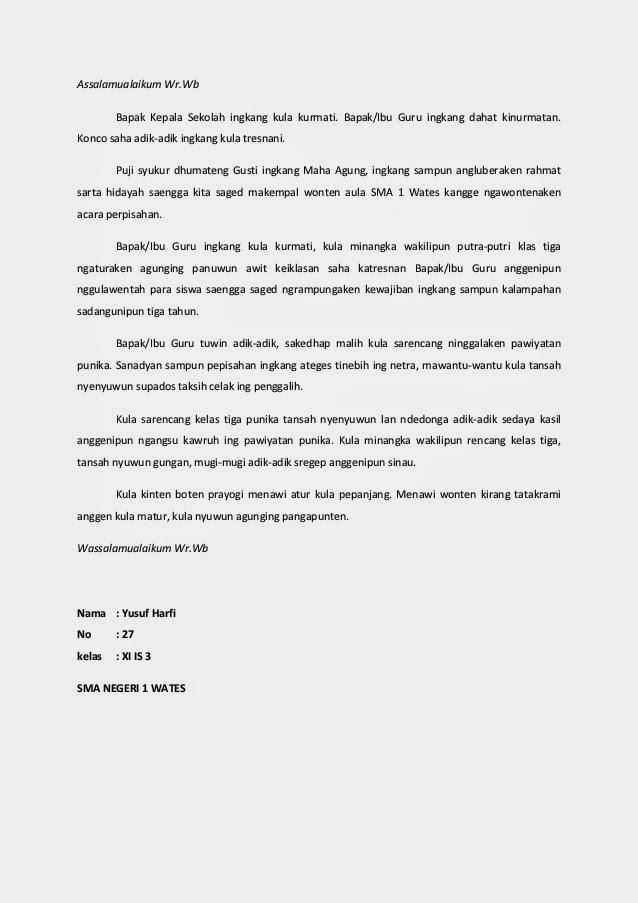 Contoh Biantara Acara Paturay Tineung Okt Contoh