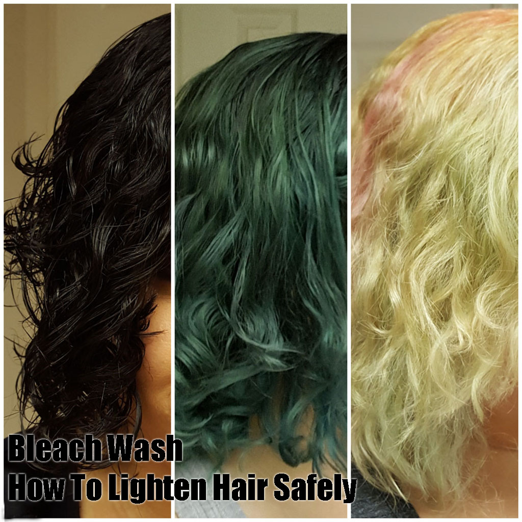 Bleach Wash How To Safely Lighten Dark Hair At Home Mama