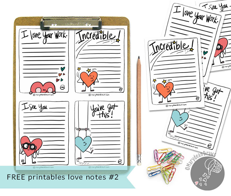 picture regarding Printable Love Notes named Printable Take pleasure in Notes 2 - Marydean Attracts