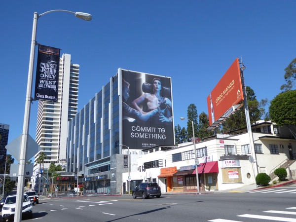 Equinox Mastectomy Commit to Something billboard Sunset Strip