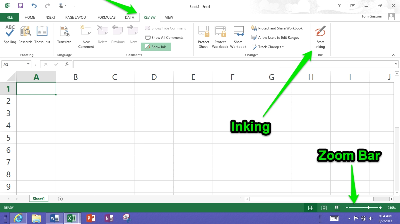 Day 13 - Microsoft Excel 2013 on the Surface RT for Teachers   ITC ...