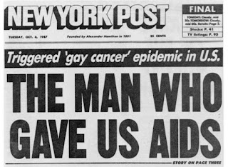 Photo New York Post front page coverage on AIDS