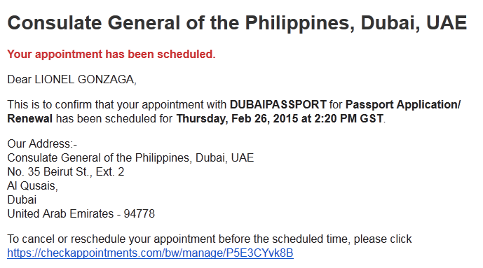 New Process Of Passport Renewal At The Philippine Consulate In Dubai